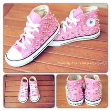 ICIKGQ8 kids studded converse by jessiejeans on etsy