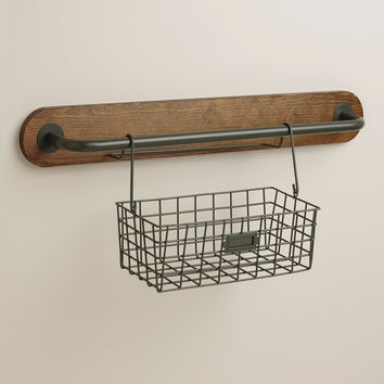 Wire Modular Kitchen Wall Storage Basket Caddy - World Market