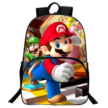 Super Mario party nes switch ANNIU New Children's 3D Cartoon Pring Backpack Cool  School Backpack for Kids  Bros boys Shoulder Bags mochila AT_80_8