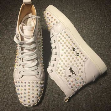 CREYNW6 Cl Christian Louboutin Louis Spikes Style #1832 Sneakers Fashion Shoes