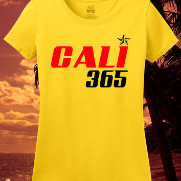 Ladies Cali Tee Womens Fitted California Shirt I Love California T Shirt Girls Small Los Angeles Large Youth Medium Kids Skate Surf 2XL 3XL