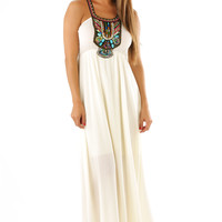 On The Road Again Maxi Dress: Ivory