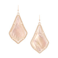 Kendra Scott Alex Earrings - Rose Gold Peach Illusion