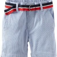 Tommy Hilfiger Baby Boys' Yarn Dyed Pin Cord Short, Bright Blue, 18 Months