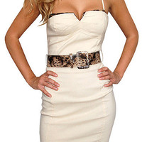 Miss Encore (Cream)-Great Glam is the web's top online shop for trendy clubbin styles, fashionable party dress and bar wear, super hot clubbing clothing, stylish going out shirt, partying clothes, super cute and sexy club fashions, halter and tube tops, b