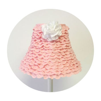 Best ruffle lamp products on wanelo shabby chic pink ruffle lamp shade mozeypictures Gallery