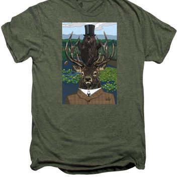 Lord Of The Manor With Hidden Pictures - Men's Premium T-Shirt