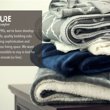 "Flannel Throw Blankets, Bed Blanket by Bedsure-100% Plush Microfiber(Warm/Cozy/Fluffy), Lightweight and Easy Care, Couch Blanket, Twin Full/Queen King(50""x60"" Ivory White)"