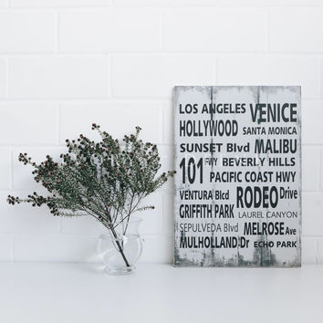Famous Places Provincial Word Wall Art