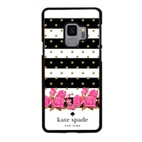 KATE SPADE NEW YORK FLORAL POLKADOTS Samsung Galaxy S4 S5 S6 S7 S8 S9 Edge Plus Note 3 4 5 8 Case Cover