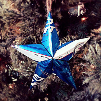 Upcycled Bud Light Beer Can Star Ornament