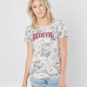 Rock Revival Floral T-Shirt - Women's T-Shirts in Purple Floral | Buckle