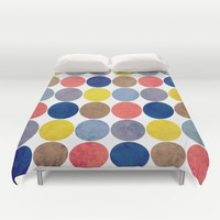 Round and Round Duvet Cover by Miss L In Art