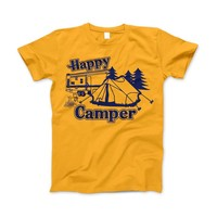Happy Camper Shirt For Camping Hiking And Outdoor Enthusiast