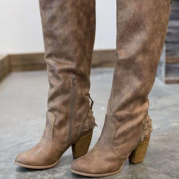 PEAPVA6 Not Rated Sass It Up Boot - Taupe