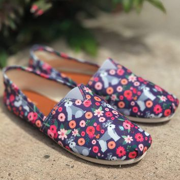 Schnauzer Flower Casual Shoes