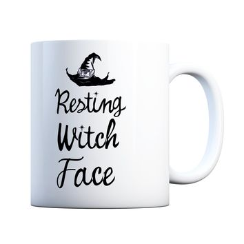 Resting Witch Face 11 oz Coffee Mug for Halloween Ceramic Coffee and Tea Cup