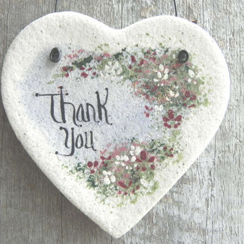 Salt Dough Thank You Heart Ornament
