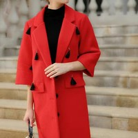 Wool Coat With Tassel