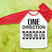 One Direction TShirts This IS US Shirts Raglan Tee Baseball Tee Unisex TShirts Women TShirts Men TShirts One Direction TShirts Red Sleeve