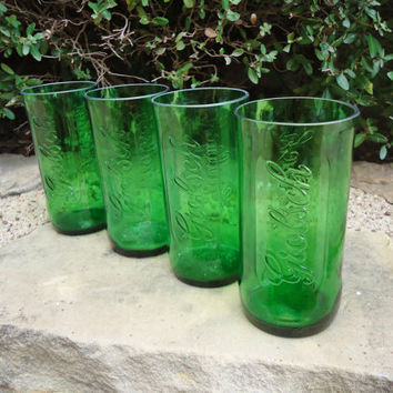 Recycled Grolsch Beer Bottle Glasses set of 4