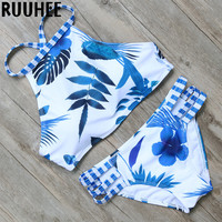 Sexy Bikini 2016 Swimwear Women Padded High Neck Swimsuit Push Up Bathing Suit Beachwear Biquini maillot de bain Bikini Set