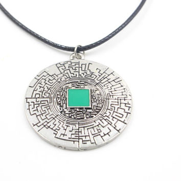 The Maze Runner labyrinth pendant necklace