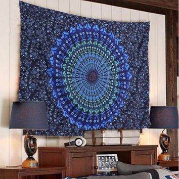 ESBU3C Hippie Indian Mandala Tapestry Wall Hanging Boho Bohemian Bedspread Dorm Decor