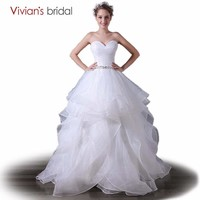 Sweetheart Wedding Dress Ball Gown Beaded Simple Dress Organza Wedding Gown