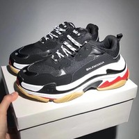 Balenciaga Mixed Colors Retro Sneakers Men And Women Running Shoes Black&White B-CSXY