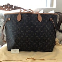 100% AUTHENTIC LOUIS VUITTON MONOGRAM CANVAS NEVERFULL GM