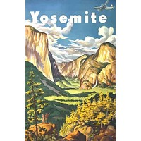 Yosemite National Park Travel Poster 11x17