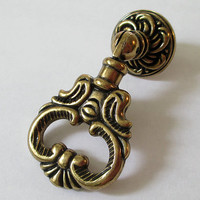 Dresser Knob Pull Drawer Pulls Knobs Handles Drop Ring Antique Bronze / Vintage Style Kitchen Cabinet Handle Pull Knob Knocker Hardware N22