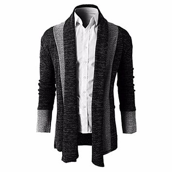 2017 Mens Sweater Cardigan Trench Open Front Masculino Male Coat Jacket Autumn Spring Knitting Outwear Men Clothing