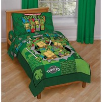 Nickelodeon Teenage Mutant Ninja Turtles 4-Piece Toddler Bedding Set - Walmart.com