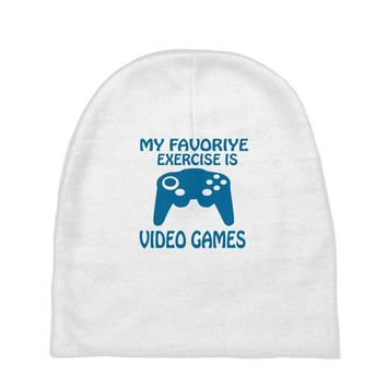 my favorite exercise is video games Baby Beanies