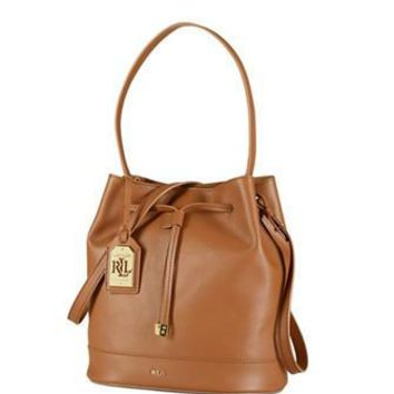 Lauren Ralph Lauren Crawley Drawstring Bucket Hobo