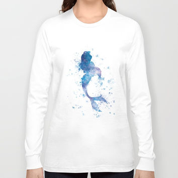 Mermaid Long Sleeve T-shirt by monnprint