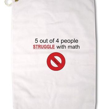 "5 out of 4 People Funny Math Humor Premium Cotton Golf Towel - 16"" x 25 by TooLoud"