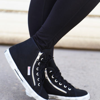 Superga Classic High-Tops {Black} – The Rage