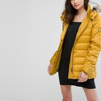 Barbour Shipper Padded Jacket with Detachable Faux Fur Trim at asos.com