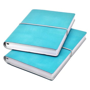 Ciak Pitti Soft Leather Journal Turquoise
