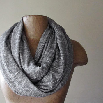 Concrete Grey Infinity Scarf  Gray Sweater Scarf  by EcoShag