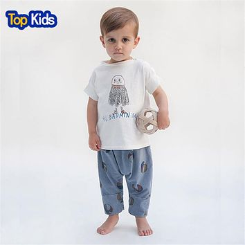New Children's T shirt Boys T-shirt Baby Clothing Little Boy Summer Shirt Baby Tees Designer Cotton Cartoon Clothes