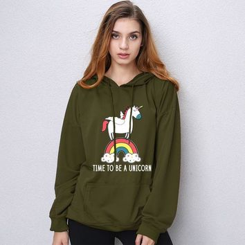 Time To Be A Unicorn - Women's Hoodie Sweater