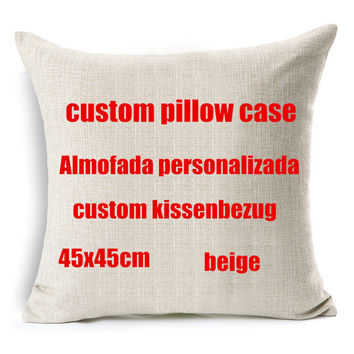 your image here printed custom cushion cover Wedding Pets Personal Photos cotton linen decorative pillow case funda cojines