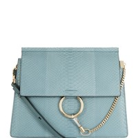 Chloé Medium Faye Python Shoulder Bag | Harrods