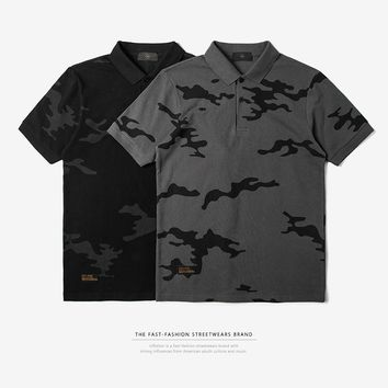 Men's Fashion Simple Design Camouflage Tops [753821122653]
