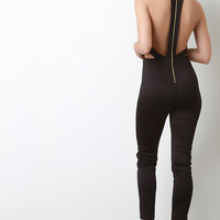 Back Zip-Up Band Sleeveless Jumpsuit