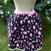 Alice in Wonderland Skirt. Kokka Alice in Wonderland fabric Skirt. Sweet Lolita Skirt. Lolita Skirt. Alice in wonderland.